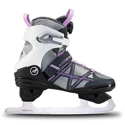K2 Skates Damen Schlittschuhe Alexis Ice Boa Fb — White - Purple — EU: 40 (UK: 6.5 / US: 9) — 25E0060