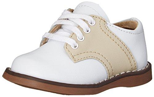 FootMates Unisex Cheer 3 (Infant/Toddler/Little Kid) White/Ecru Oxford 6 Toddler M/W