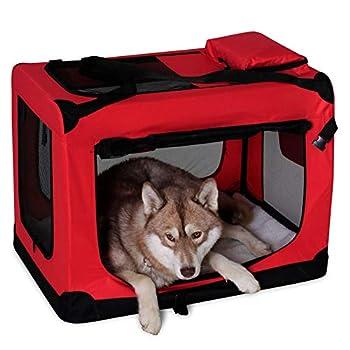 dibea TB10053 Chien Pliable Transport Voiture Box Sacoche pour Petit Animal Rouge