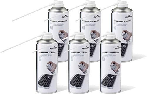 Durable 579619 Druckgasreiniger Powerclean Standard (Druckgasspray) 400 ml (400 ml   6er Pack, Standard)