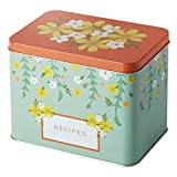 Mabel + Maude Recipe Box with Cards and Dividers   Set of 25 Double Sided Cute Notecards (4 x 6 Inch), 12 Tabbed Index Dividers & Floral Gift Container