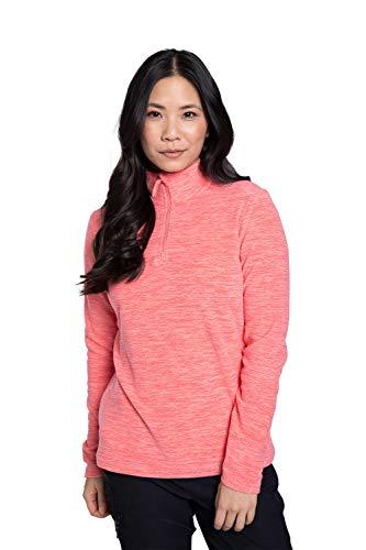 Mountain Warehouse Snowdon Damen Melange Vlies-Jacke mitVollreißverschluss - atmungsaktives Sweatshirt, schnelltrocknend, Winter Orange 36