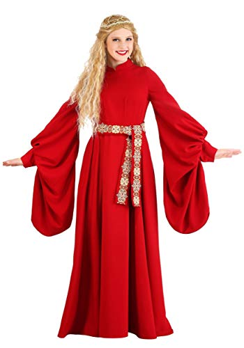 Adult Princess Bride Costume Red Medieval Dress Costume Buttercup Costume for Adult Women X-Small
