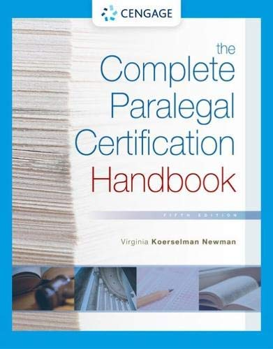 The Complete Paralegal Certification Handbook (MindTap Course List)