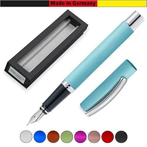 Online Schreibgeräte 36638 - Pluma estilográfica, color turquesa