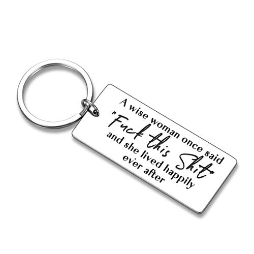 Funny Motivational Women Keychain Christmas Gifts for Women Wife Friends Coworker Birthday A Wise...