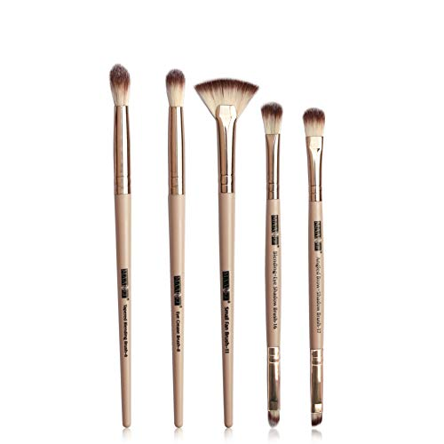 HANHOU 5pcs Multifonctions Pro Cosmetic Powder Foundation Eyeshadow Eyeliner Lip Makeup Brushes Sets,D-OneSize