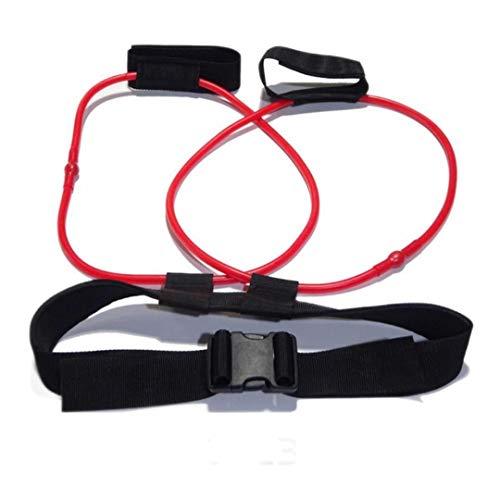 Fitness Unisex Booty Butt Band Bandas de Resistencia Cinturón de Cintura Ajustable Pedal ejercitador para glúteos Entrenamiento Muscular Goma Gym-Red 20 LB