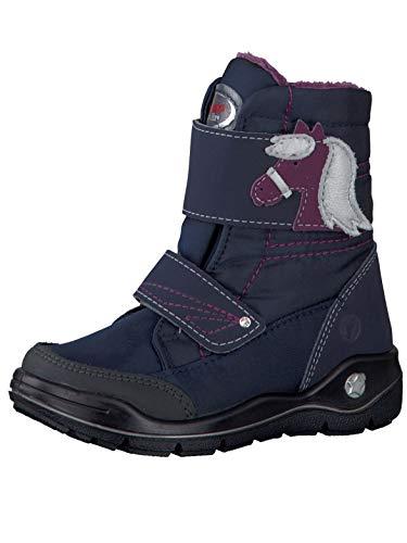 RICOSTA Fille Bottes & Boots GAREI, Bottes d'hiver pour Enfants, Chaussures d'extérieur,imperméables,Nautic/Marine,28 EU / 10 UK