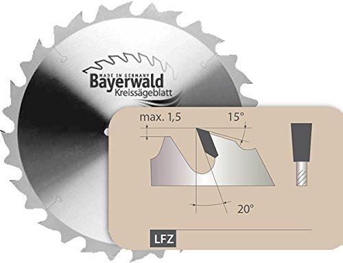 Bayerwald - HM Kreissägeblatt - Ø 315 mm x 3,2 mm x 30 mm | Langschnitt Flachzahn (20 Zähne) | präzise Zuschnitte, Quer-/Längsschnitte in Holz & Edelhölzer | mit Kombinebenlöchern