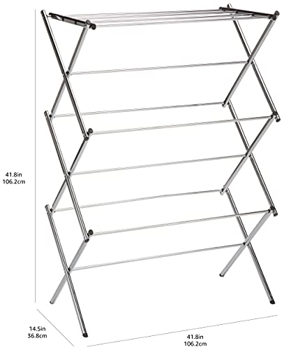 Amazon Basics - Tendedero plegable, cromado