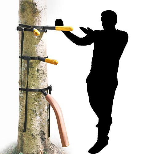 SYNTECSO Portable Wing Chun Dummy, Detachable Wooden Wing Chun Dummy Attached to Tree Or Pillar