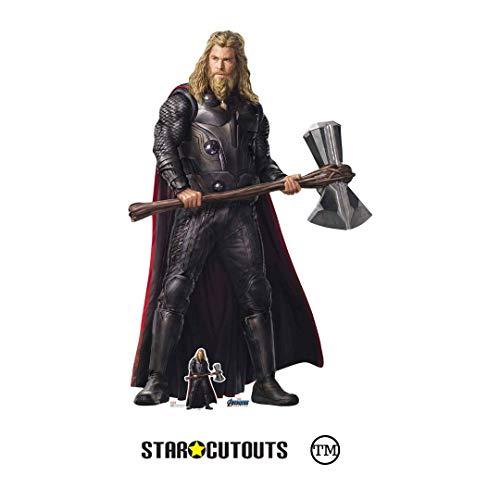 STAR CUTOUTS Ltd SC1368 Thor Stormbreaker Endgame Collectors Edition Lifesize Pappaufsteller perfekt für Marvel's Avengers-Fans, Partys, Raumdekorationen, Hochzeiten und Fotos, 194 cm hoch