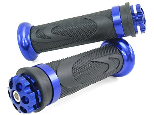 CNC Aluminio Manijas del manillar Kawasaki Ninja H2 750 Laser Azul ZL 1000 ZZ-R 1400 Manijas del manillar Kawasaki ZX-10 ER-6F//N