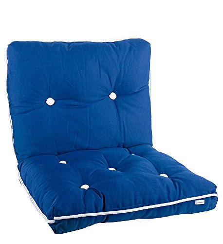 Compass Kapok Kissen/Sitzkissen mit Rückenpolster, schwimmfähig, wasserabweisend, komfortable Kabinenausrüstung, blau, 449902