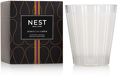 NEST Fragrances Moroccan Amber, NEST01MA003 Classic Candle, 8.1 oz, 8 Ounce