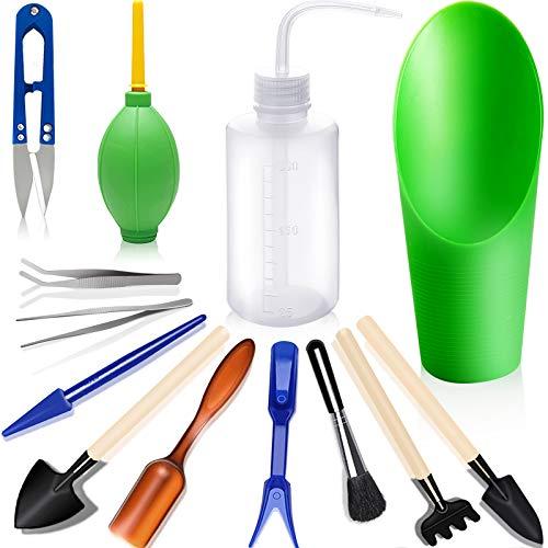 godehone Succulent Tools, Mini Garden Tool Set, Transplanting Tools Set, Succulent Care kit for Succulent Miniature Gardening Plant, Multi, 13 Pcs