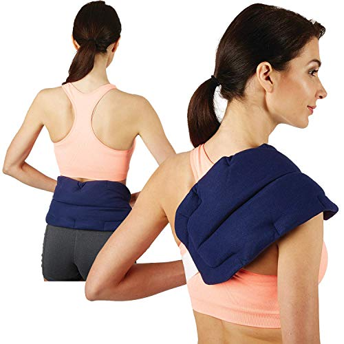 Bed Buddy Back Wrap Heat Pad - Microwaveable Heating Pad - Moist Heating Pad and Cold Pack for Back Pain, Back Pain, Neck Pain, Muscle Pain