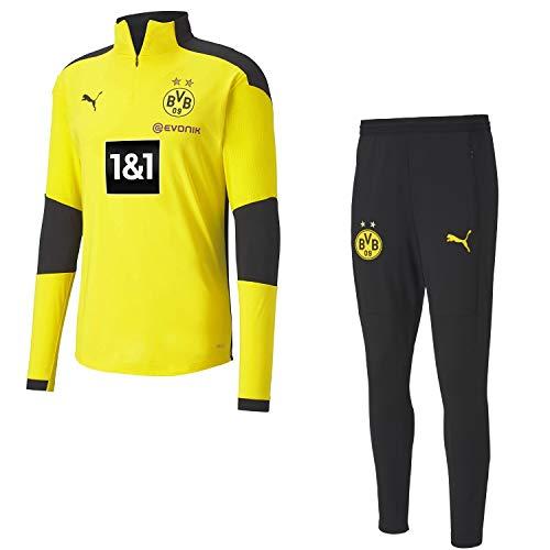 Puma Borussia Dortmund Trainingsanzug Fanartikel Herren der Saison 2020/21, Größe:L, Farbe:Grau