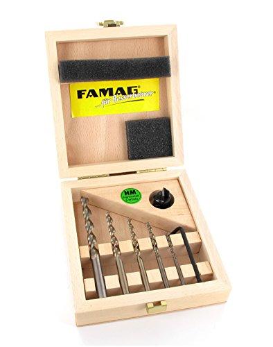 FAMAG Vario-Set Aufstecksenker HM 90° + Holzspiralbohrer 1594 3,4,5,6,8mm