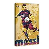 Lionel Messi FC Barcelona 2015 Fútbol Deportes Lienzo Póster Decoración Dormitorio Deportes Paisaje Oficina Decoración Regalo Marco-estilo116 × 24 pulgadas (40 × 60 cm)