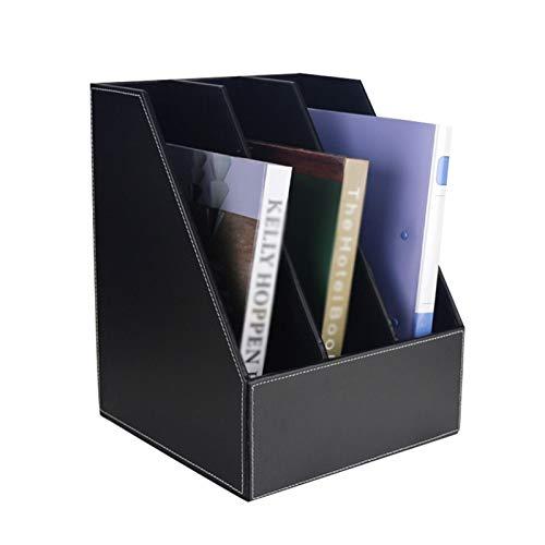 Nai-storage Estante de Almacenamiento LP Multicapa Hotel Office Home CD Display Stand Estante de Archivos de Escritorio (Color : A, Size : 27 * 27.5 * 34cm)
