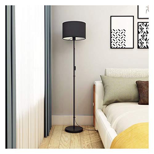 ZGP-LED Luces de Piso Lámpara de Lectura Lámpara de pie Negro Interruptor de botón nórdica iluminación de la decoración del sofá lámpara de cabecera de la lámpara de Piano Nivel de energía [A ++]