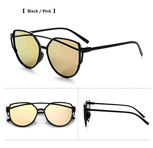 TYJYY Sunglasses New Cat Eye Mirror Goggle Sunglasses Mujeres MarcaTriangle Vintage Mujer New Tide Gafas De Sol