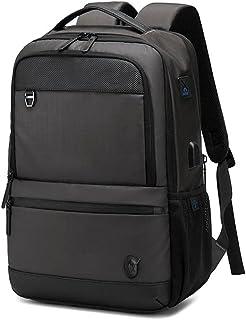 Rahala Casual Waterproof Men Shoulder Bag Large Capacity Student Laptop School Male Backpack - Grey