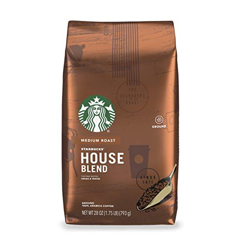 Starbucks Medium Roast Ground Coffee — House Blend — 100% Arabica — 1 bag (28 oz.)
