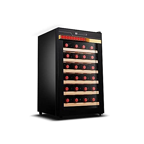 YHLZ Enfriador De Vino De 28 Botellas Temperatura Constante Electrónica Pequeño Enfriador De Cerveza Doméstico Silencioso Barra De Hielo Té Refrigerado por El Viento