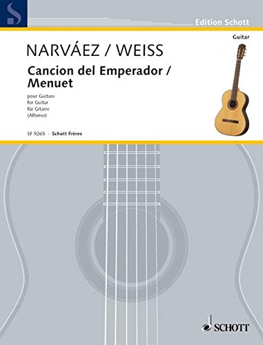 Canción del Emperor / Menuet D-Dur: Gitarre. (Edition Alfonso)