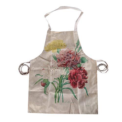 Zoomne Flower Pattern Chefs Ropa de trabajo ecológica para colgar cuello smock Cafe Workwear