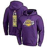 NBA Lakers 24# Kobe Bryant - Camiseta unisex de chándal con capucha para hombre y mujer morado XL