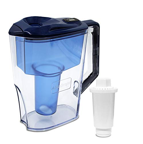 Alkaline Water Filter Jug with LED indicatorHigh pHAlkalizer Machine -7 Stage Ionizer Filtration System to Purify and Increase PH Levels - Clean,Refreshing Water10 Cup PitcherBPA Free
