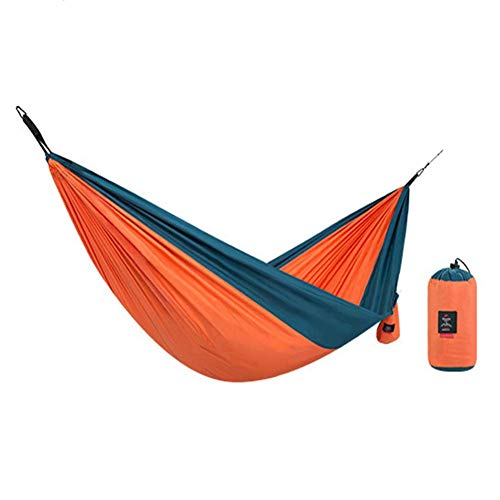 Mnjin Portable Single Double Outdoor Garden Camping Hammock,1/2 Person Hammock Cotton Soft Swing Sleeping with Carrying Bag for Patio Yard Garden Backyard Porch Travel 290 X 148 cm
