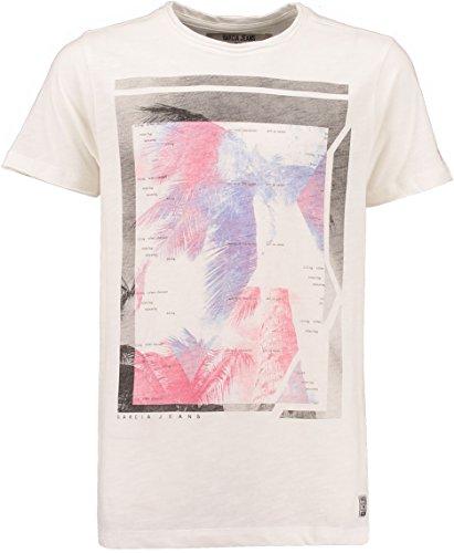Garcia Kids T-shirt jongens D73602-304 wit (roken white) maat 140/146