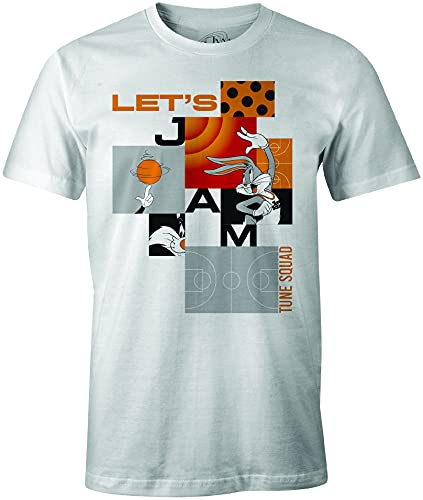 Looney Tunes MESPJ2MTS008 Camiseta, Blanco, L para Hombre
