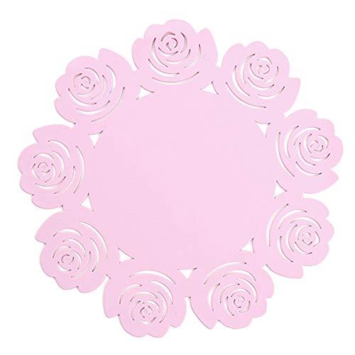 Demarkt Isolierauflage Rose Silikon Topfmatte Küche Anti-Hot Tischset hitzebeständige Tasse Coaster Schüssel Matte Haushalt Geschirr Geschirr Matte