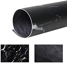Selens 22x35 Inch (56x88cm) Black Cracked Marble Texture Background Flat Lay Tabletop Photography Backdrop for Food, Jewelry, Cosmetics, Small Product, Photo Pros and more