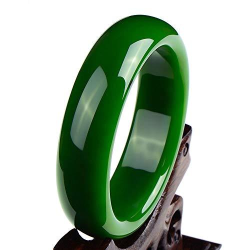 Yarmy Natürlicher Schöne Smaragd grün Nephrit-Jade Armreif Armband Schmuck Geschenk