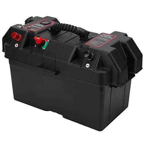 Caja de batería, interruptores de batería para barcos Enchufes de voltímetro de alta resistencia Enchufe para encendedor de cigarrillos 5V 1A / 5V 2.1A con alimentación USB para