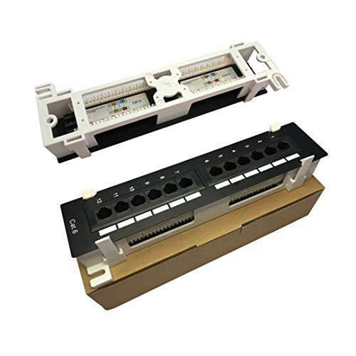 BekaTech 12 Port 10 inch CAT5E or cat.6 Patch Panel RJ45 Networking...