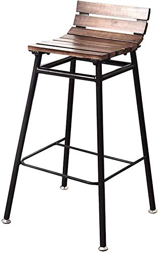 Barkruk industriële kruk, hoge terras, eetkamerstoel, toonhoogte, frame van grenenhout, zithoogte 27,5 inch