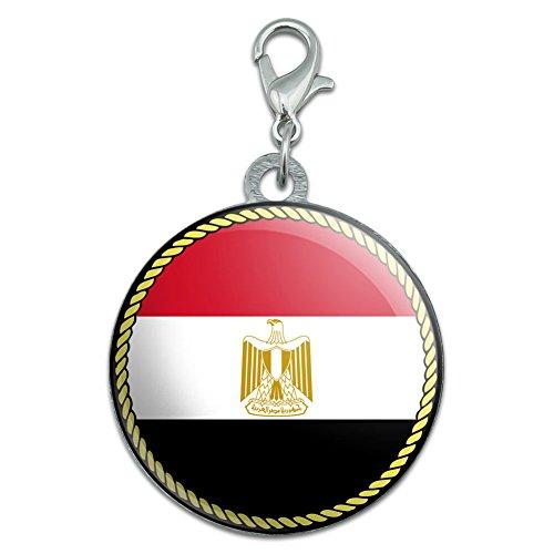 Vlag van Egypte RVS huisdier hond ID Tag
