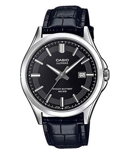 Casio Reloj Analógico para Hombre de Cuarzo con Correa en Cuero MTS-100L-1AVEF