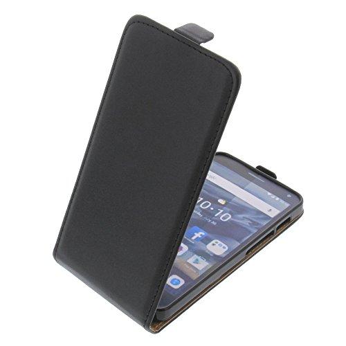 foto-kontor Tasche für Alcatel One Touch Pop 4 Smartphone Flipstyle Schutz Hülle schwarz