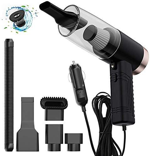 YIFUSUO Aspirador del Coche vacío Mojado y seco del Coche Cleaner Portable Vacuum Cleaner 12V 120W Mini portátil,Negro