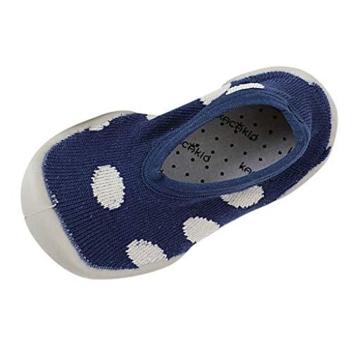 Jaysis Streifen Warm Halten Socken Schuhe, Mädchen Jungen Sneakers Warm Im Winter Belüftung Die Zehen Können Voll Ausgeübt Werden Rutschfestes Atmungsaktiv