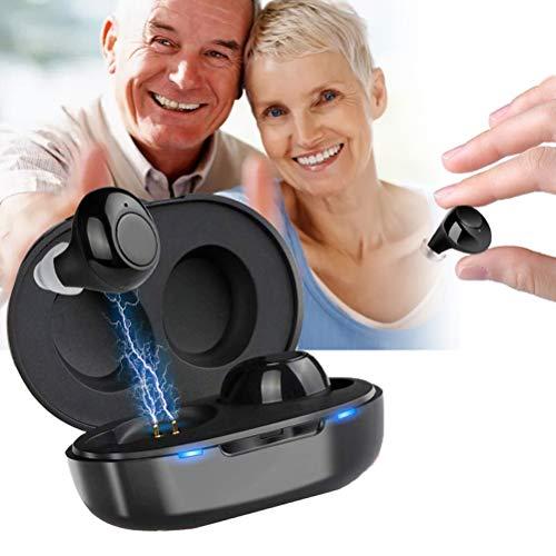 XIYAN Modische Mini Sound-Verstärker, Binaural Sound-Zusatzgerät mit Rauschunterdrückung USB Charging für einfache Kommunikation, Geeignet für Erwachsene und ältere Patienten Geschenke